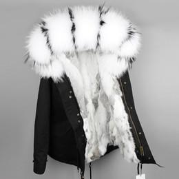 9bc3b2f4704 OFTBUY 2018 parka winter jacket women parka real fur coat big natural  raccoon fur collar hooded rabbit fur parkas warm thick S1031