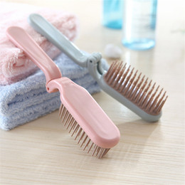 Wholesale Hair Teeth - Creative Portable Collapsible Make Up Hair Comb Household Hair Styling Anti-Static Massage Teeth Comb for DHL free shipping