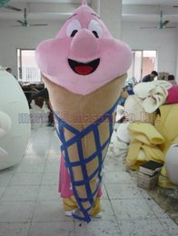 Wholesale ice cream mascot costumes - ice cream mascot costume Free Shipping Adult Size,cold drink luxurious plush toy carnival party celebrates mascot factory sales.