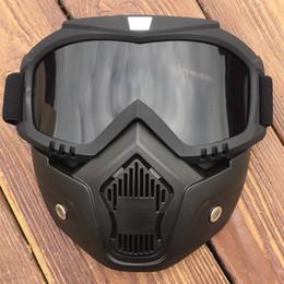 a042aaf2e0d83 G6 Óculos de Proteção Da Motocicleta Máscara Destacável Óculos E Boca  Filtro Perfeito para a Face Aberta Motocicleta Meia Capacete ou Capacetes  Do Vintage