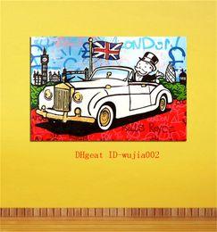 aceite de lona de coche Rebajas Car Rich, Canvas Pintura Salón Decoración del hogar Moderno Arte Mural Pintura al óleo
