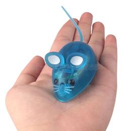 Robôs do gato on-line-Robô Rato brinquedos com Luz CONDUZIDA 4 Cor engraçado mini Bionics Jogo para Pet gato brinquedos para crianças crianças presente de aniversário de natal