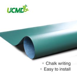 Pizarra adhesiva online-Etiqueta de la pared Pizarra tablero de tiza flexible Ferroso Enseñanza Junta autoadhesiva de color verde Imanes de retención Decoración de la pared
