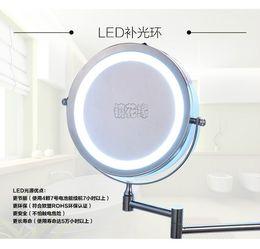 Nouveau mode 7 pouces led miroir de salle de bains Dual Arm prolonger miroir de maquillage 2-Face loupe 10X équipé mur rond en métal ? partir de fabricateur