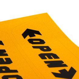 Цветные наклейки для автомобилей онлайн-4шт/набор автомобиля стикер автомобиля декор дверь открытой предупреждение 2 цвет автомобиля-стайлинг светоотражающие стикера