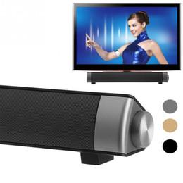 Wholesale Wireless Soundbar Speaker - LP-08 Bluetooth Speaker Soundbar, Stereo surround wireless Sound slim Subwoofer HIFI Speakers Computer laptop PC Tablet