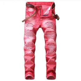 0fecad85a7 Venta caliente 2018 Primavera Otoño Nuevos Jeans Street Ripped Jeans Moda  Mendigo parche Pantalones de mezclilla Retro Rojo Gris Tallas grandes Jeans