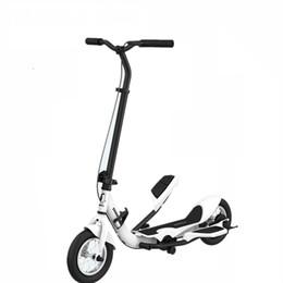 Rodas de carbono branco on-line-Tomada de fábrica Taretto branco scooter, TARCLE 10 Polegada Roda De Ar Pedal Dobre Scooter de Fitness Stepper Carbono Scooter 16 km / h