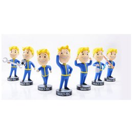 Wholesale Baby Doll Heads - Gaming Heads Fallout 4 Vault Boy Bobbleheads Series 1 PVC Action Figure toy for baby kids doll