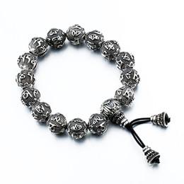 jóias de aço inoxidável de buda Desconto Venda inteiraSteel soldado estilo chinês clássico buddha sutra pulseira de aço inoxidável bom detalhe e alta qualidade homens jóias vêm a sorte