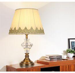 2019 lotus lumière bouddha Style européen américain post-moderne cristal lampe de table lampadaire Accueil Hôtel salon chambre décoration lit lampe lampe de table