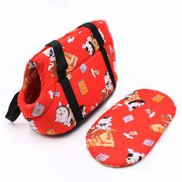 Schwammhund online-Hersteller Pet Carrier Dog Taschen Korean Printed Pet Rucksack für Kleine Hunde Katze Chihuahua Weichen Schwamm Tragbare Reise Tragetasche