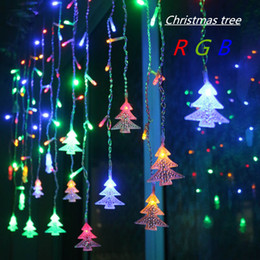 holiday lights icicles Coupons - 4.5M 96 Leds Curtain Christmas Tree Icicle String Lights Fairy Lights Christmas New Year Lights Wedding Party Decoration EU 220V