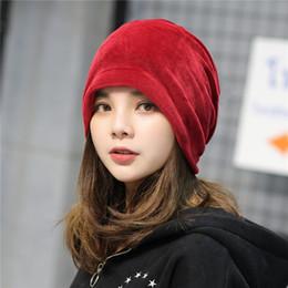 c8023dd9ddf korean hats for men Coupons - women Skullies Beanies autumn winter bonnet  Korean adult fashion red