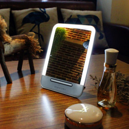 Wholesale Wholesale Touch Screen Pads - Rechargeable LED Cosmetic Makeup Touch Screen Mirror Portable Night Light Table Lamp Make up light Mirror Touch Pad Pocket Tool