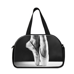 Wholesale personalized girls bag - Ballet Lightweight Travel Bag for Women Personalized Duffle Bag Large Shoulder Gym Bag with Shoe Pocket for Teen Girls Travel Carry on Bags