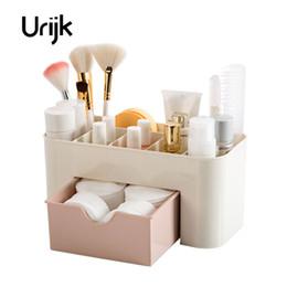 Wholesale Shoe Brush Wholesale - Urijk Cosmetic Jewelry Organizer Office Storage Drawer Desk Makeup Case Plastic Makeup Brush Box Lipstick Remote Control Storage