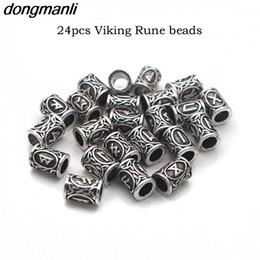 ouro viking Desconto P4 Top Ouro Nórdico Viking Runes Encantos Beads Descobertas para Pulseiras para Colar de Pingente de Barba ou Cabelo Vikings Rune Kits