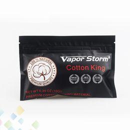 Vapor de tanque diy online-Original Vapor Storm Cotton King Wick Cigarrillo Electrónico Vape Algodón Para DIY RDA RBA Atomizador Tanque E Cigarrillo DHL Gratis
