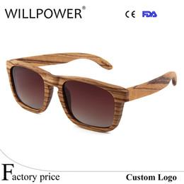 Billige hölzerne sonnenbrille männer online-Retro Männer Frauen Polarisierte Zebra Holz Sonnenbrille Luxus Handmade Günstige Holzigen Woody Sonnenbrille