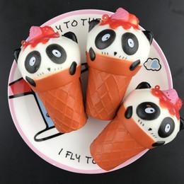 10 Pc / Lot Pu Simulation Panda Tête Crème Glacée Squishy Slow Springback Jouet Adulte Décompression Poupée Bureau Boutique Décoration Enfant Cadeau ? partir de fabricateur