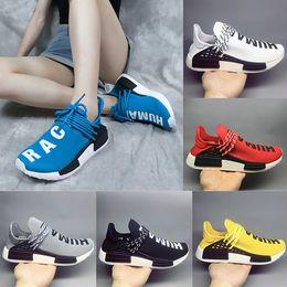 405f61d94 2018 Homecoming Creme x NERD Solar PacK Human Race sport Shoes pharrell  williams Hu trail trainers Men Women runner Sports sneakers 36-45