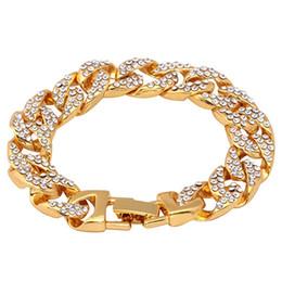 Canada Nouvelle Arrivée Europe Hip-Hop Bracelet Brillant Zircon Tête De Dragon Boucle Cubaine Chaîne Fixation Couleur Pour Hommes Bracelet Bijoux Accessoires supplier dragon head jewelry Offre