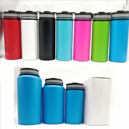 Wholesale Bicycle Insulated Bottle - Sport Stainless steel tumblers outdoor water bottle 40oz 18oz 32oz Insulated 304 Stainless Steel cup travel vehicle bottles