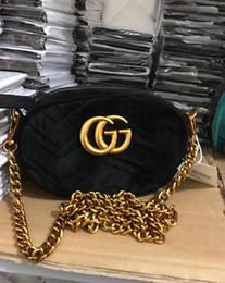 Wholesale Stud Bag Leather - Marmont Animal Studs Leather Belt Bag Women Matelassé Velvet Belt Bag Designer Mini Sport Waist Bags Bee Handbags Free Shipping
