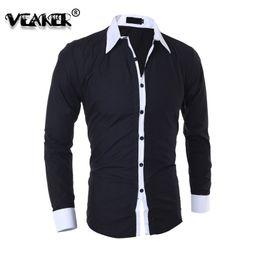 90c34b042bc mens Business Shirts Clothing Tops 5 Colors Mens Slim Solid Color Shirts  Long Sleeves Turn-down Collar Shirt Tops Male shirt new