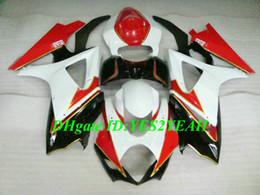 carenado k7 Rebajas Kit de carenado de motocicleta de alto grado para SUZUKI GSXR1000 K7 07 08 GSXR 1000 2007 2008 ABS Rojo blanco negro Conjunto de carenados + Regalos SX14