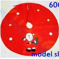 Wholesale Home Party Marketing - 4pcs 60Cm non-woven Santa Claus Snowman hotel home market mall Christmas tree skirt Ornaments apron party Christmas Decoration