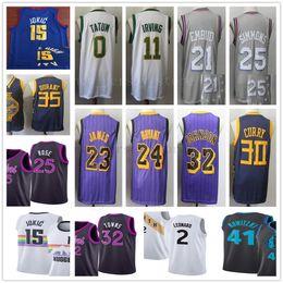 Venta al por mayor online-Venta al por mayor barata 2019 New City Jersey de calidad superior para hombre cosido azul púrpura blanco gris Jersey tamaño S-XXL envío gratis