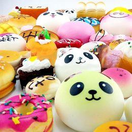 Wholesale Mini Pops Kids - 2018 Pop-Hot Squishy Rilakkuma Soft Mini Squishy Phone Donut Toy Bag Charms Jumbo Buns Cell Phone Straps & Charms Lanyard Kids Gift