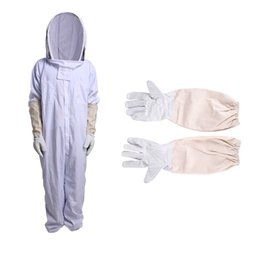 Wholesale Cotton Cleaning Gloves - ousehold Cleaning Tools Accessories Household Gloves Professional Cotton Full Body Beekeeping Jumpsuit with Veil Hood Gloves Hat Clothing...