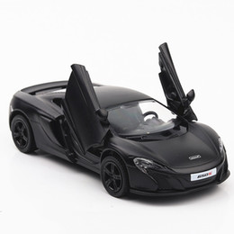 Carro de brinquedo de porta aberta on-line-1:36 alta imitação liga modelo de carro, 650 s puxar para trás brinquedo do carro de metal, 2 porta aberta modelo estático, frete grátis