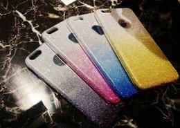 proteção para telefones celulares Desconto Venda quente gradiente de brilho pó mobile phone case de proteção para iphone x 8 7 6 6 s plus tpu pc case mps11