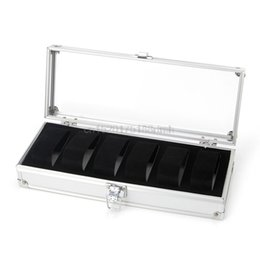 Wholesale Insert Boxes - Watch Box 6 Grid Insert Slots Jewelry Watches Jewelry Display Storage Box Case