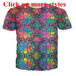 Wholesale psychedelic shirt men - Tie-dye psychedelic style tshirts New fashion men women 3d character t-shirts t shirt 3D Print tshirt tops 105