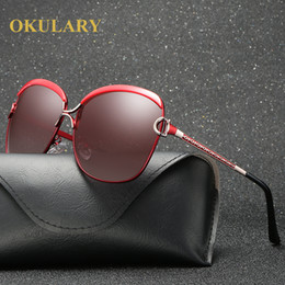 08231b7a1a fashion cool sun glasses Promo Codes - 2017 polarized Luxury fashion brand  designer vintage cat eye