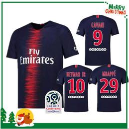 Wholesale men black t shirt l - 18 19 PSG NEYMAR JR MBAPPE home away shirt T SILVA CAVANI DI MARIA PASTORE 2018 2019 Verratti Matuidi seasons custom jersey