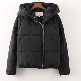 Wholesale Ladies Short Black Cotton Jackets - Women Winter Jackets Short Warm Coat Black White Color Ladies Hooded Cotton Casual Parkas abrigos mujer invierno Parka
