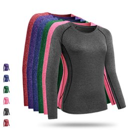 Wholesale pants for exercise - LoRun Yoga T Shirt Women for Fitness Sports Tights Long Slevess Shirts Tops Breathable Running Exercises Training Gym Top Tees