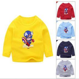 t-shirt dressing stil junge Rabatt Cartoon-Jacke Kinder-Kopf-Jacke koreanische Version des Frühlingsjungen langärmeligen Pullover Herbstkleidung V 001