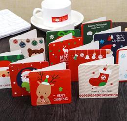 2020 mensajes del arbol de navidad Mini tarjeta de felicitación navideña Tarjeta de mensaje Tarjeta navideña Tarjeta de bendiciones Árbol de navidad Ornamentos colgantes con sobres mensajes del arbol de navidad baratos