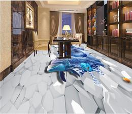 revêtements muraux adhésifs Shark Sea World 3d papier peint de sol en pvc ? partir de fabricateur