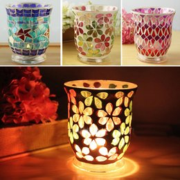 Wholesale Religious Glass Candles - European Mosaic Glass Candle Holders Home Decor Dinner Wedding Party Gifts Bar Decoration No Candle Free DHL WX9-315