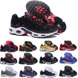 cheaper 7f91d b6af0 2018 Nouveaux Hommes TN Plus Chaussures Vendre Comme Les Gâteaux Chauds Mode  Augmenté Ventilation casual Chaussures Olive Cargo GS Sneakers Chaussures,  ...