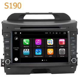 Wholesale Double Din Car Android - Road Top S190 Android 7.1 System Quad Core CPU Double Din Car Radio DVD GPS Navigation Head Unit Car Computer PC for Kia Sportage 2014-2015