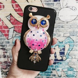 Wholesale owl silicone phone case - Phone case for iPhone X 7 8 6s plus Luxury Cute Owl Soft Silicon Cases Lovely Cartoon Back Cover Fundus